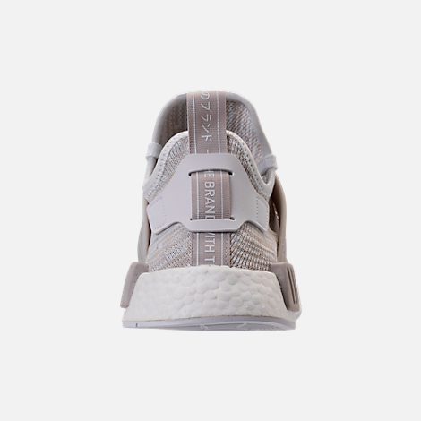 Back view of Women's adidas NMD XR1 Primeknit Casual Shoes in White/Neutral