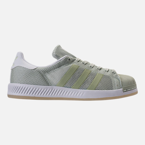 Right view of Men's adidas Superstar Foundation Casual Shoes in Mint/White/Gum
