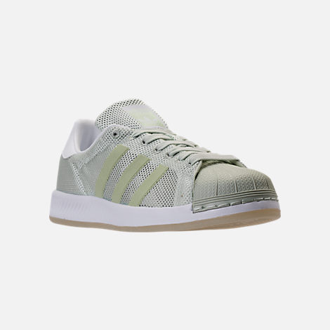 Three Quarter view of Men's adidas Superstar Bounce Casual Shoes in  Mint/White/Gum