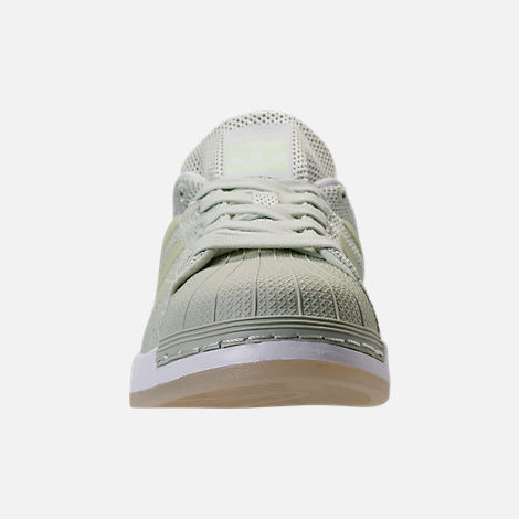Front view of Men's adidas Superstar Foundation Casual Shoes in Mint/White/Gum