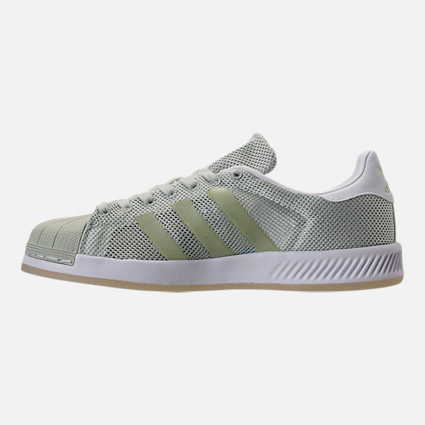 Left view of Men's adidas Superstar Foundation Casual Shoes in Mint/White/Gum