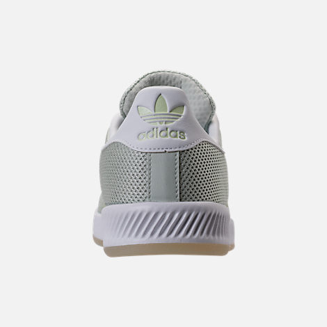 Back view of Men's adidas Superstar Foundation Casual Shoes in Mint/White/Gum