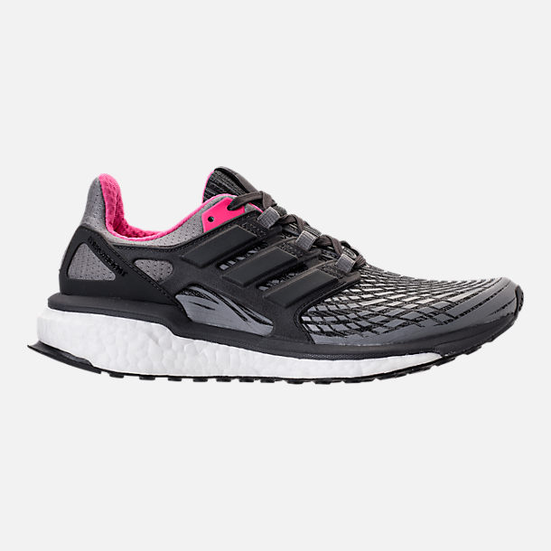Right view of Women's adidas Energy Boost 2.0 Running Shoes in Grey/Utility Black