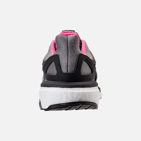 Back view of Women's adidas Energy Boost 2.0 Running Shoes in Grey/Utility Black