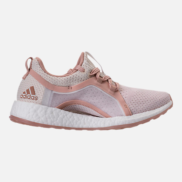 Right view of Women's adidas PureBOOST X Clima Running Shoes in White/Ash Pearl/Tint