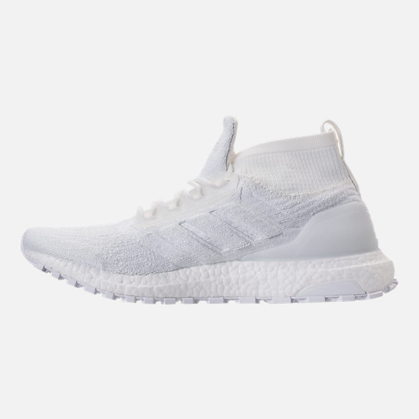 Left view of Men's adidas UltraBOOST ATR Mid Running Shoes in Nondye/Nondye