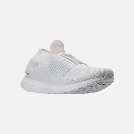 Three Quarter view of Men's adidas UltraBOOST Laceless Running Shoes in Nondye/Nondye