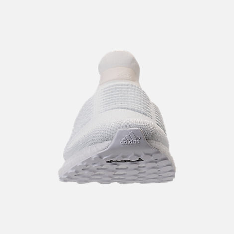 Front view of Men's adidas UltraBOOST Laceless Running Shoes in Nondye/Nondye