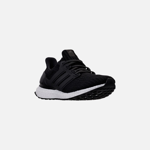 Three Quarter view of Women's adidas UltraBOOST 4.0 Running Shoes in Core Black