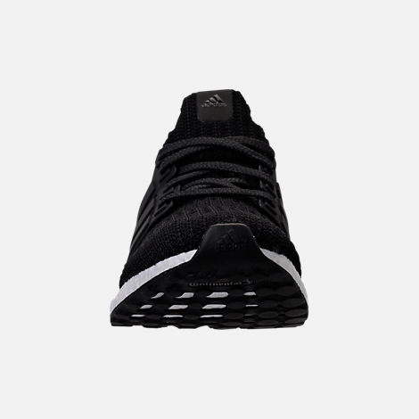 Front view of Women's adidas UltraBOOST 4.0 Running Shoes in Core Black