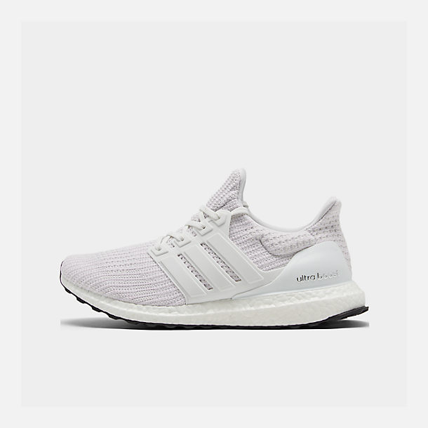 Right view of Men's adidas UltraBOOST Running Shoes in White/White/White