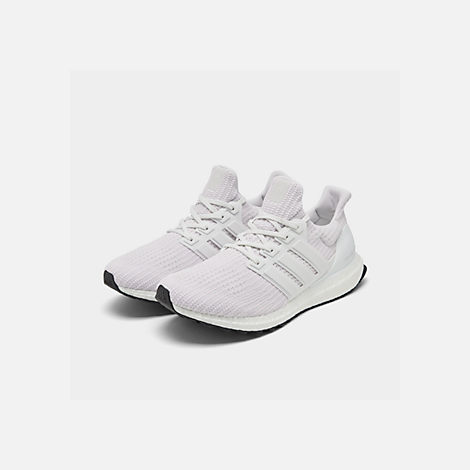 Three Quarter view of Men s adidas UltraBOOST Running Shoes in White White  White 7a180a355