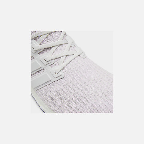 Front view of Men s adidas UltraBOOST Running Shoes in White White White 2af273977