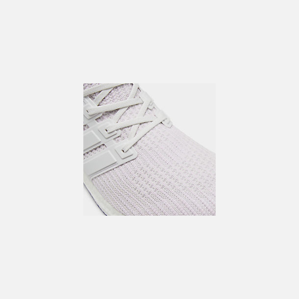 Front view of Men's adidas UltraBOOST Running Shoes in White/White/White