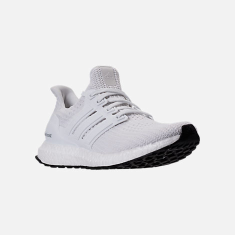 Three Quarter view of Women's adidas UltraBOOST Running Shoes in White