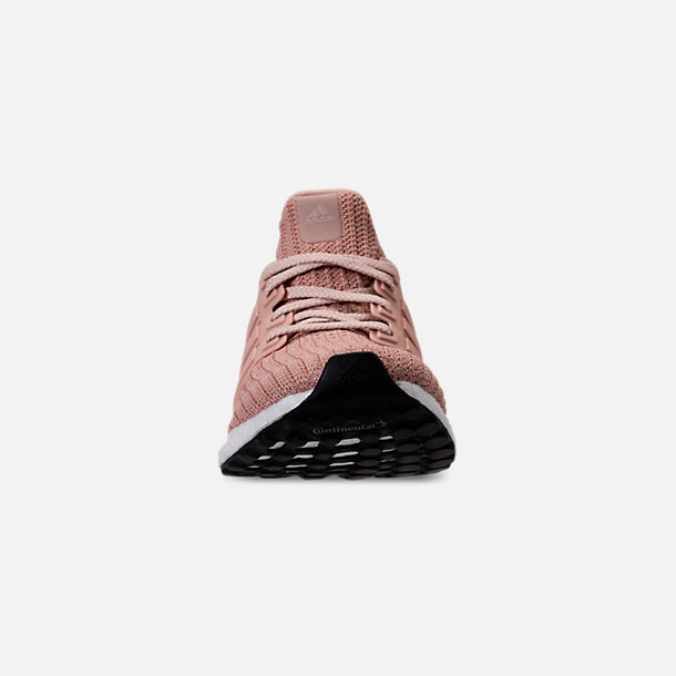 Front view of Women's adidas UltraBOOST 4.0 Running Shoes in Ash Pearl