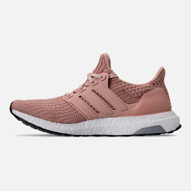 Left view of Women's adidas UltraBOOST 4.0 Running Shoes in Ash Pearl