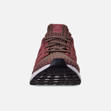 Front view of Women's adidas UltraBOOST 4.0 Running Shoes in Trace Maroon/Trace Maroon/Base
