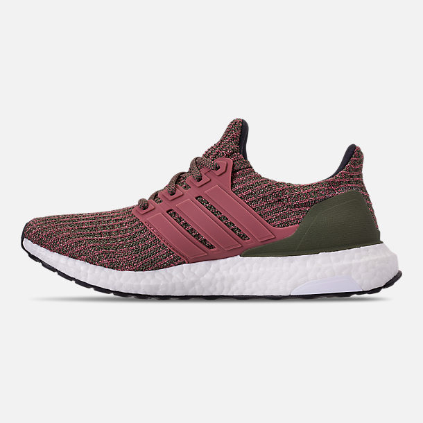 Left view of Women's adidas UltraBOOST 4.0 Running Shoes in Trace Maroon/Trace Maroon/Base