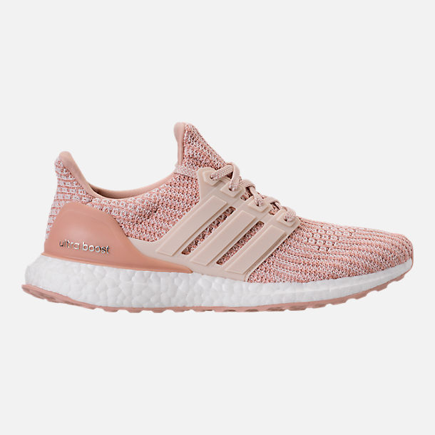 Right view of Women's adidas UltraBOOST Running Shoes in Ash Pearl/Linen/Clear