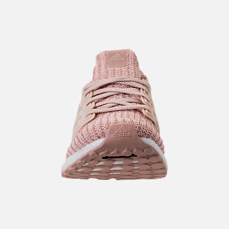 Front view of Women's adidas UltraBOOST Parley Running Shoes in Ash Pearl/Linen/Clear