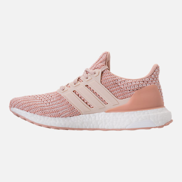 Left view of Women's adidas UltraBOOST Parley Running Shoes in Ash Pearl/Linen/Clear