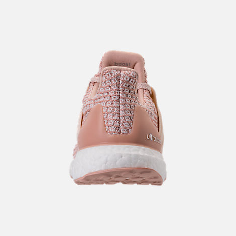 Back view of Women's adidas UltraBOOST Parley Running Shoes in Ash Pearl/Linen/Clear