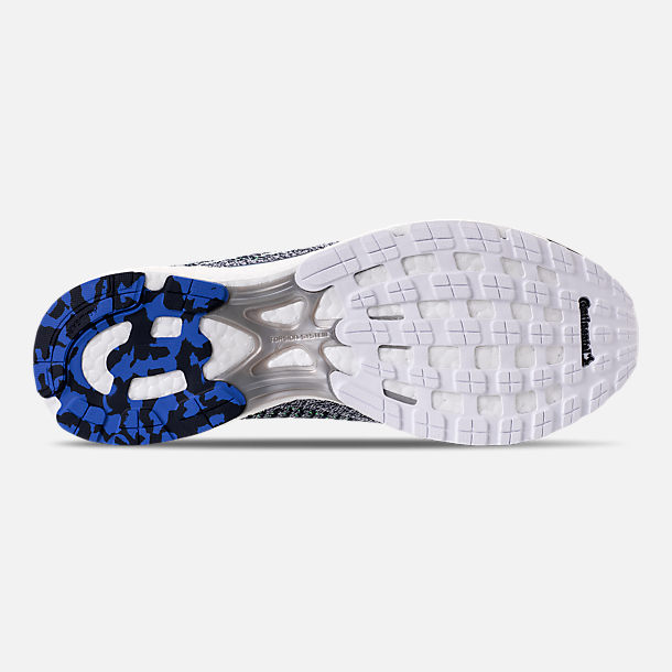 Bottom view of Men's adidas Adizero Prime Running Shoes in Legend Ink/Footwear White/Blue
