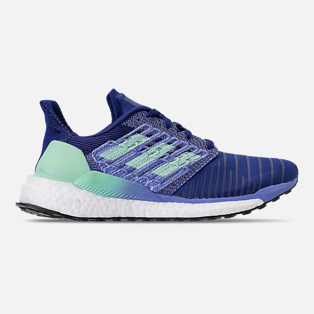 Right view of Women's adidas SolarBOOST Running Shoes in Mystery Ink/Clear Mint/Real Lilac