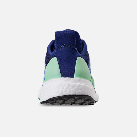 Back view of Women's adidas SolarBOOST Running Shoes in Mystery Ink/Clear Mint/Real Lilac