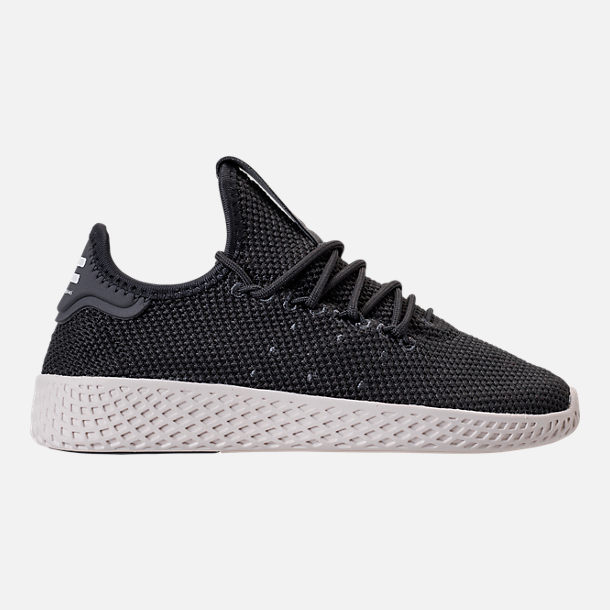 Right view of Boys' Preschool adidas Originals Pharrell Williams Tennis HU Casual Shoes in Carbon/Chalk White