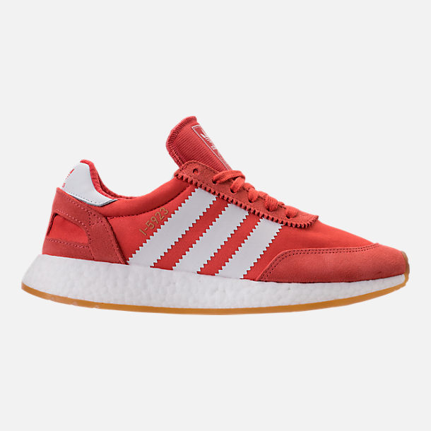 Right view of Women's adidas I-5923 Runner Casual Shoes in Trace Scarlet/White/Gum