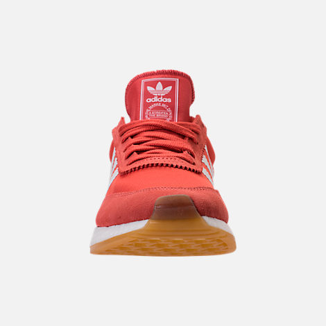 Front view of Women's adidas I-5923 Runner Casual Shoes in Trace Scarlet/White/Gum