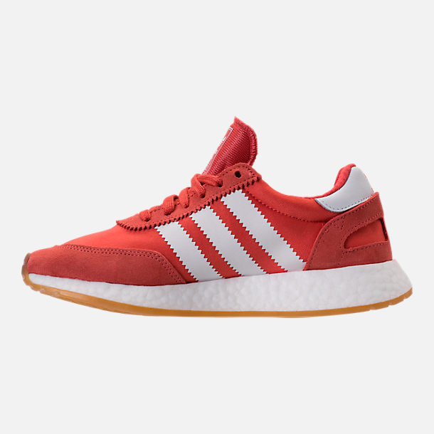 Left view of Women's adidas I-5923 Runner Casual Shoes in Trace Scarlet/White/Gum