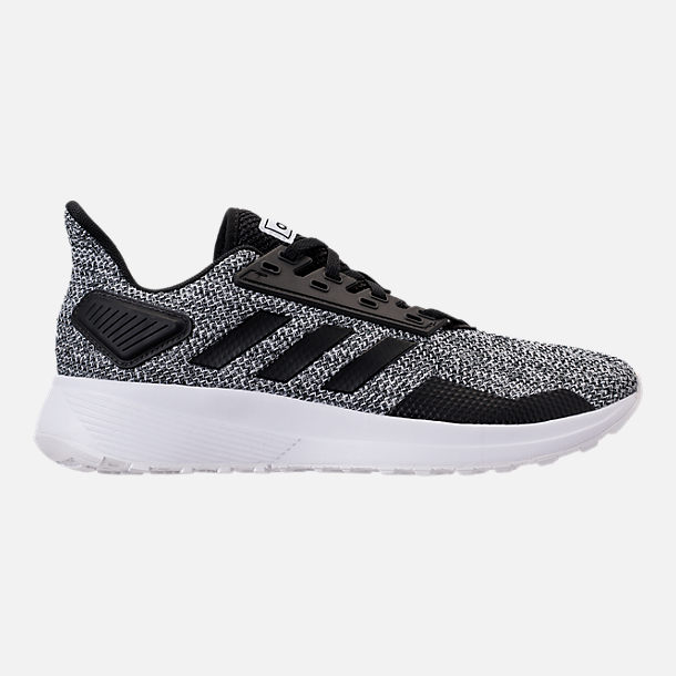 Right view of Men's adidas Duramo 9 Knit Running Shoes in Core Black/White