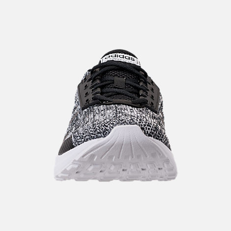 Front view of Men's adidas Duramo 9 Knit Running Shoes in Core Black/White