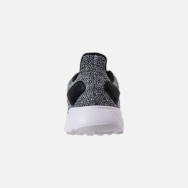 Back view of Men's adidas Duramo 9 Knit Running Shoes in Core Black/White