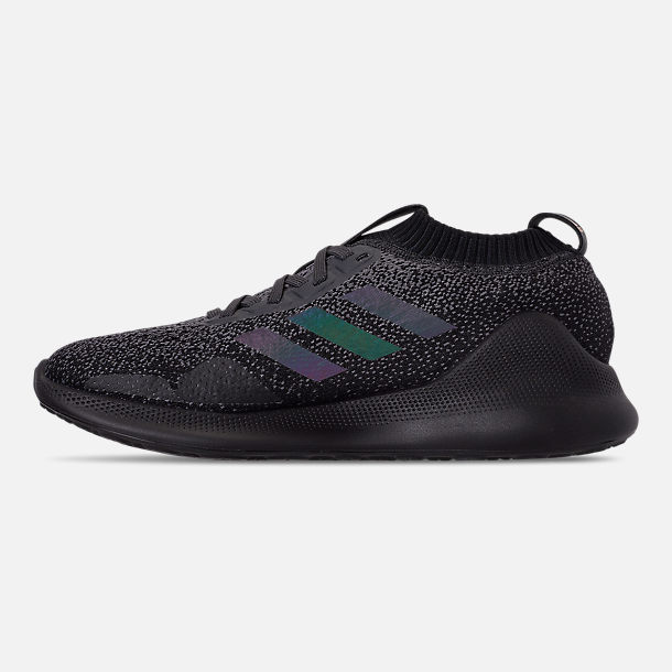 Left view of Women's adidas PureBounce+ Running Shoes in Carbon/Core Black