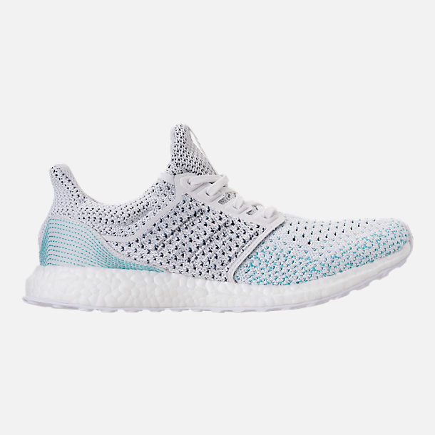 Right view of Men's adidas UltraBOOST Clima x Parley Running Shoes in Footwear White/Blue