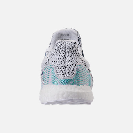 Back view of Men's adidas UltraBOOST Clima x Parley Running Shoes in Footwear White/Blue