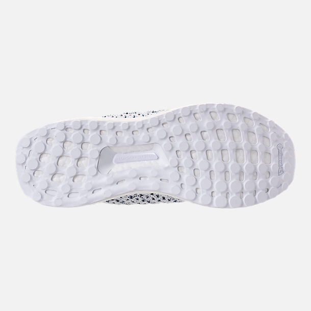 Bottom view of Men's adidas UltraBOOST Clima x Parley Running Shoes in Footwear White/Blue