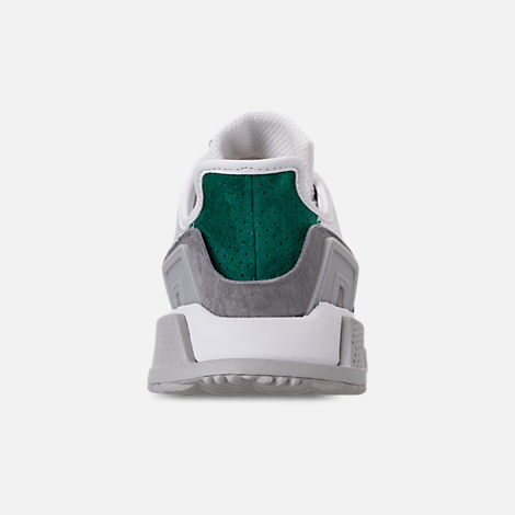 Back view of Men's adidas Originals EQT Cushion ADV Casual Shoes in Footwear White/Core Black/Green