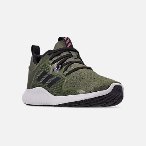 6537088a1 Three Quarter view of Women s adidas Edge Bounce Running Shoes in Base  Green Black