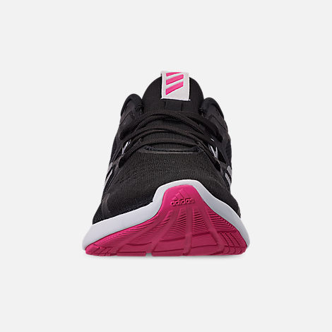 2767bdb9a Front view of Women s adidas Edge Bounce Running Shoes in Core  Black White Shock