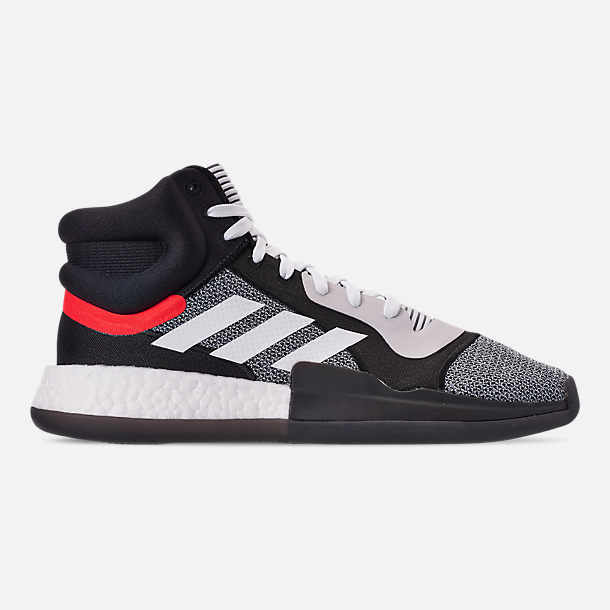 official photos 227ca f0b9f Right view of Mens adidas Marquee Boost Basketball Shoes in Footwear  WhiteCore Black