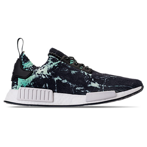 Black, Green And White Nmd_R1 Marble Primeknit Sneakers