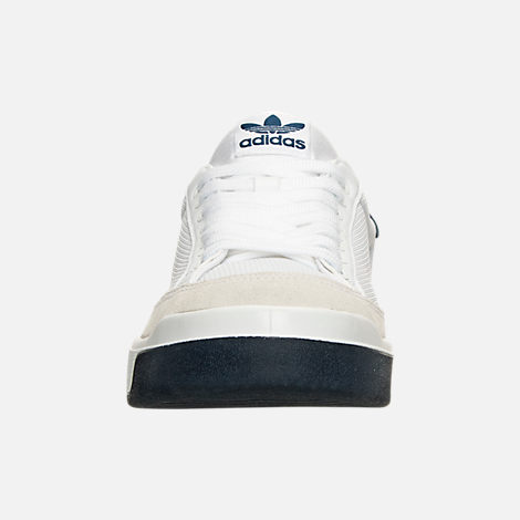 Front view of Men's adidas Originals Rod Laver Casual Shoes in White/White/Navy