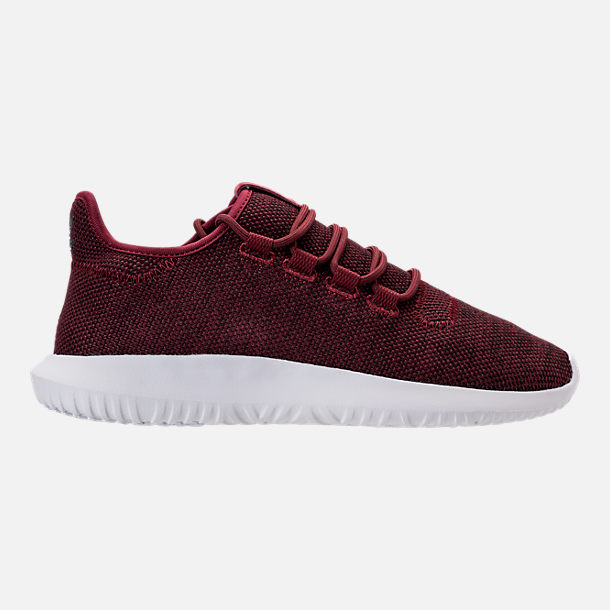 Right view of Men's adidas Tubular Shadow 3D Knit Casual Shoes in Collegiate Burgundy/Core Black/White