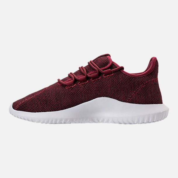 Left view of Men's adidas Tubular Shadow 3D Knit Casual Shoes in Collegiate Burgundy/Core Black/White