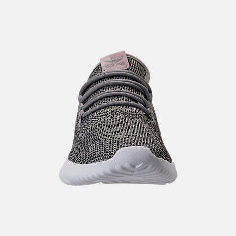 Front view of Women's adidas Originals Tubular Shadow Casual Shoes in Solid Grey/Vintage/Vivid White